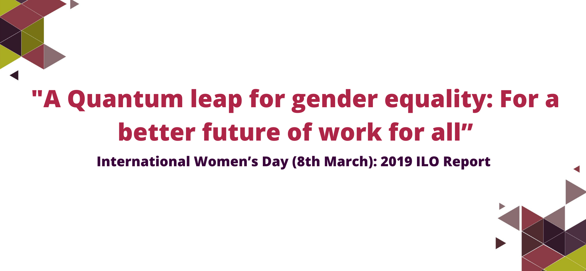 A Quantum leap for gender equality  For a better future of work for all