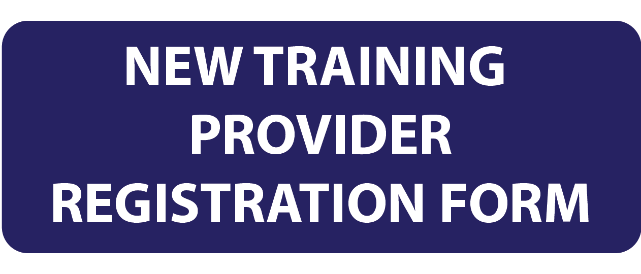 New Training Provider Registration Form - button New Trainer Provider Registration copy